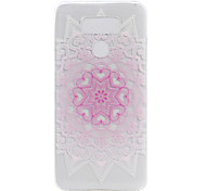 For LG G6 LS775 X Power Case Cover Pink Flower Painted Pattern TPU Material Phone Case