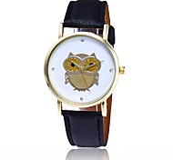 New Fashion Owl Watch Casual Women Wrist Watches Ladies Leather Quartz Watches Relogio Feminino