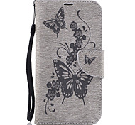 For MOTO G4 G4Plus Case Cover Pressed Butterfly Pattern PU Leather Case Leather Case