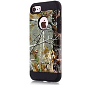 Para Antichoque Capinha Capa Traseira Capinha Armadura Rígida PC para AppleiPhone 7 Plus iPhone 7 iPhone 6s Plus iPhone 6 Plus iPhone 6s