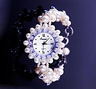 Mujer Reloj de Moda Reloj Pulsera Cuarzo Banda Rosa Rosa