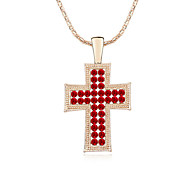 Women's Pendant Necklaces Crystal Chrome Euramerican Fashion Cross Jewelry For Wedding Party Birthday Congratulations 1pc