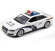 Police car Toys Car Toys 1:32 Metal Plastic White Model & Building Toy