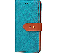 For Samsung Galaxy S7 edge  Card Holder Wallet with Stand Flip Embossed Pattern Case Tile Hard PU Leather for S7 S6 edge S6 S5 S4 S3