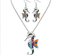 Jewelry Set Jewelry Unique Design Dangling Style Euramerican Bohemian Punk Statement Jewelry Resin Chrome Animal Shape