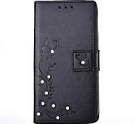 For LG K10 K8 DIY Rhinestone Card Holder with Stand Flip Case Full Body Case Flower Hard PU Leather for LG K7 LG K4 LG G5