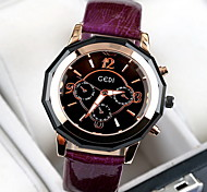 Women's Fashion Watch Water Resistant / Water Proof Japanese Quartz Genuine Leather Band Cool Casual Luxury Black Red Purple