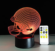 3D Light LED Chicago Bears Football Helmet Sport Cap 3D LED Night Light Visual Lamp Christmas Gift for Children