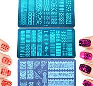 1шт красочный&прекрасный дизайн поделок способа штамповки пластины ногтя нержавеющей стали штамповки пластины лак для ногтей