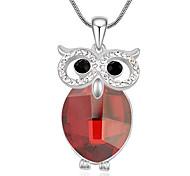 Women's Pendant Necklaces Crystal Animal Shape Chrome Unique Design Personalized Jewelry For Graduation Gift 1pc