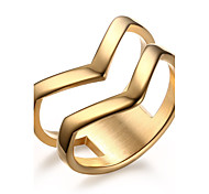 Ring Fashion Steel Bicone Shape Gold Jewelry For Daily 1pc