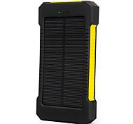 10000mAhmAhbanco de la energía de la batería externa Carga Solar Linterna 10000mAh 1000mA Carga Solar Linterna