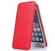 Para Porta-Cartão Flip Capinha Corpo Inteiro Capinha Cor Única Rígida Couro Legitimo para AppleiPhone 6s Plus iPhone 6 Plus iPhone 6s
