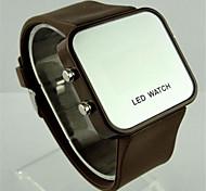 Per donna Smart watch Quarzo Silicone Banda Casual Nero Verde Giallo