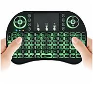 Aire ratón teclado backlit ardillas volantes i8 2.4ghz inalámbrico para android tv caja y pc con touchpad