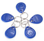 RFID 125Khz Proximity ID Card Token Tags Keyfobs Key Fobs Chain Blue