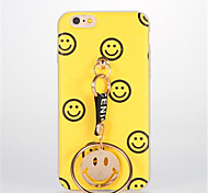 For DIY Case Back Cover Case Smiling Face with Same Pendant Soft TPU for Apple iPhone 7 Plus iPhone 7 iPhone 6s Plus iPhone 6 Plus iPhone 6s iPhone 6