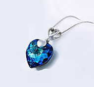 Per donna Collane a catena Gioielli A forma di cuore Euramerican Azzurro chiaro Gioielli Per Quotidiano Casual 1 pezzo 1 paio
