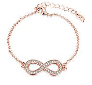 Mother's Day Rose Gold Color Bracelet Bangle Crystal Bracelets Womens Elegant Jewelry Lucky Female Bracelet