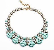 Women's Strands Necklaces Geometric Chrome Unique Design Personalized Light Blue Jewelry For Gift Outdoor 1pc