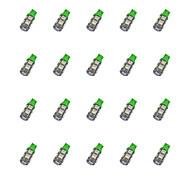 20Pcs T10 9*5050 SMD LED Car Light Blub Green Light DC12V