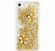 Для iphone 7 7 плюс течет жидкость случай задней крышки случая бабочка мягкое tpu для iphone 6s 6 плюс se 5s 5 5c 4s