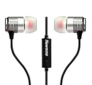 Newmine NM-JK12 Mobile Earphone for Cellphone Computer Sports Fitness In-Ear Wired Metal 3.5mm With Microphone  Noise-Cancelling