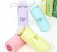 300ml Glass Portable  Cartoon  Water Bottle