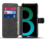 Для samsung galaxy s8 plus s8 чехол для футляра для карты с футляром для футляра полный футляр для тела твердый цвет hard pu leather for