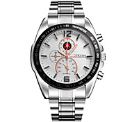 Men's Dress Watch Chinese Quartz Stainless Steel Band Charm Silver Silver/Black Silver