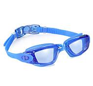 плавательные очки Противо-туманное покрытие Водонепроницаемый Регулируемый размер Силикагель Поликарбонат черный синийСветло-серый