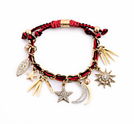 Women's Charm Bracelet Jewelry Friendship Luxury Alloy Round Star Rectangle Moon Red Jewelry For Party Special Occasion Anniversary 1pc