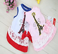 Cat Dog Shirt / T-Shirt Dog Clothes Summer Spring/Fall British Cute Casual/Daily Blushing Pink White