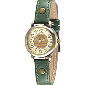 Women's Fashion Watch Japanese Quartz / Leather Band Casual Red Green Green Red