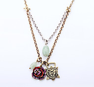 Women's Pendant Necklaces Flower Geometric Chrome Unique Design Personalized Gold Jewelry For Gift Outdoor 1pc