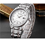 Men's Fashion Watch Quartz Stainless Steel Band Silver Gold Black White Gold