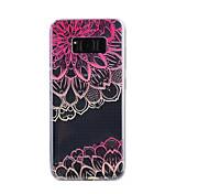 Для samsung galaxy s8 plus s8 чехол обложка диагональ цветочным узором падение клей лак высокое качество тпу материал чехол для телефона