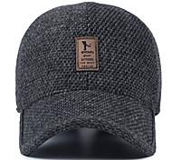 Шляпа шерсти среднего возраста мужская зимняя наружная бейсболка уха