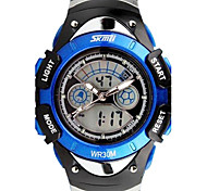 Skmei®Fashion Children Dual Time Zone Strap Watch LED Digital Wrist Watch 30m Waterproof Assorted Colors Cool Watches Unique Watches