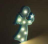 1pc 3d lumière de nuit lampe LED en plastique chambre d'enfants chambre à coucher lampe de chevet décoration de maison de mariage
