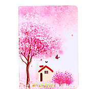 For Apple iPad Pro 9.7'' iPad 5 iPad 6 Case Cover Flower Tree Pattern Card Stent PU Material Flat Protection Shell