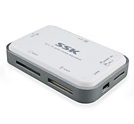 SSK Platinum Multi Card Reader SCRM054 Silver White