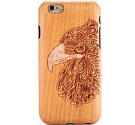 Для яблока iphone 6 6s чехол для чехла тисненый узор задняя обложка чехол для дерева зерно животное твердая массивная древесина