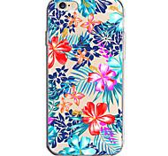 Для яблока iphone 7 7 плюс 6s 6 плюс крышка случая цветка узор окрашен высокой проникающей тпу материал мягкий чехол для телефона