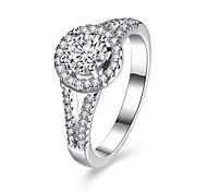 Кольцо ЦирконийБазовый дизайн Круглый дизайн Уникальный дизайн Цветочный дизайн Сердце Геометрический Дружба Симпатичные Стиль
