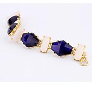 Women's Chain Bracelet Jewelry Friendship Fashion Alloy Geometric Dark Blue Jewelry For Party Birthday Valentine 1pc