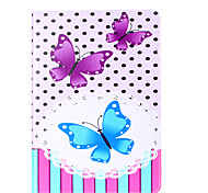 For Apple iPad Pro 9.7'' iPad 5 iPad 6 Case Cover Butterfly Pattern Card Stent PU Material Flat Protection Shell