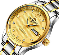 Men's Dress Watch Fashion Watch Quartz Calendar Alloy Band Silver