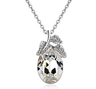 Women's Pendant Necklaces Crystal Chrome Cute Style Euramerican Fashion Personalized Light Green Light Blue Red Yellow White Jewelry For