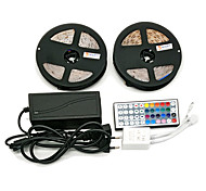 Z®zdm водонепроницаемый 2 × 5m 300x3528 smd rgb светодиодный фонарь и 44key дистанционный контроллер 6a eu / au / us / uk электропитание (ac110-240v)